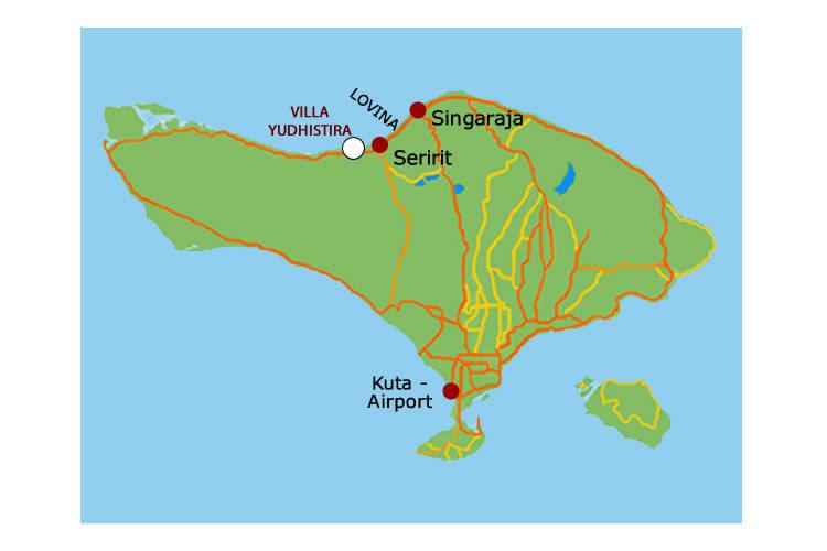 Map Villa Yudhistira